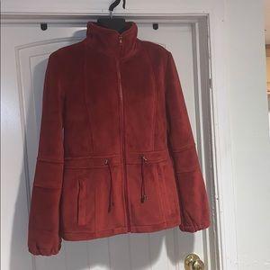 Kristen Blake fleece rust jacket size S